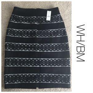 NWT Black House/White Market Black&Lace Skirt 4